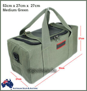 New CANVAS DUFFLE LARGE BAG CARRY BAG Tough Tool Travel Luggage Camping Green-UM