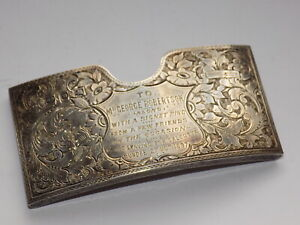 BIRM 1896 H/M SILVER ORNATE ENGRAVED CURVED CDV CARD CASE 34.1 gm DUNDEE INTERES