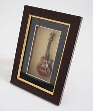 miniatura instrumento musical Jazz Guitarra Eléctrica en el marco de fotos - FGC