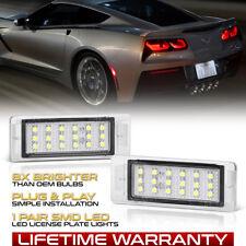 SMD LED White License Plate Light Lamp Housing Chevy Corvette SS Camaro Impala
