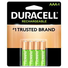 4/pack Duracell AAA Rechargeable Batteries AAA4 1.2V NiMH DX2400