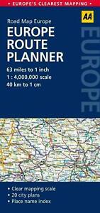 Europe Route Planner: AA Road Map Europe by AA Publishing (English) Free Shippin