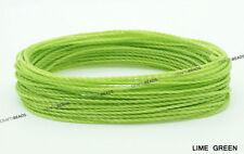 1MM Waxed Polyester Linhasita Cord Macrame Bracelet Artisan DIY String - 10yards