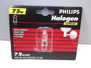 Lot of (12) Philips BC75WT4/12V  Halogen Capsule Lamp Light Bulb 75W 12V