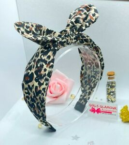 Animal Print Hairband Alice Headband Hair Tie Band Bow Tie Leopard Dress Costume