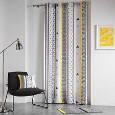 Douceur D'intérieur Yellow Mix Rideau À oeillets Polyester Imprime 260 x 140 ...