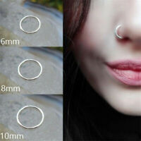 3pcs Nose Open Hoop Ring Lip Earring Body Piercing Studs Surgical Steel Jewelry