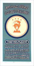 Guy Clark Joe Ely John Hiatt Lyle Lovett Poster Hand-Signed by Gary Houston 2007