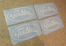 Tee Nee Vintage Boat Trailer Decals 4-pak Pick White Free Ship + Fish Decal