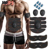 Muscle Toner Abdominal Toning Belt EMS ABS Trainer Wireless Body Gym Workout US