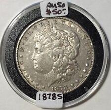 1878S Morgan Silver Dollar - AU