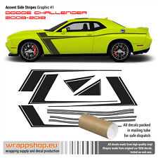 Dodge Challenger 2008 - 2018 Accent stripes graphic vinyl decal