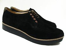HUSH PUPPIES Quiff Black Wf Suede Shoes Size 45/11 W (New) MSRP $225.00