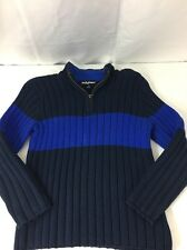 Boys Half Zip Pullover Sweater Size 8 Small Navy Blue Long Sleeve