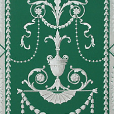 Handprinted French Zuber 1940s Wallpaper - Highly Sought After in Gorgeous Green