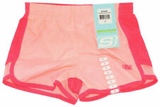 New Skechers Active Wear Girls Shorts Size 7-8 In Pink Bow Pink Bloom