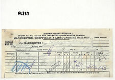 HL237 1896  Sheffield Manchester Lincolnshire Parcel Way Bill Guiseley NEW FIND