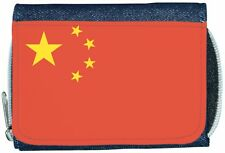 China Flag Denim Wallet