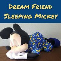 "Disney Parks EPCOT 24"" Sleeping Mickey Dream Friends Sleeping Plush Pillow Doll"