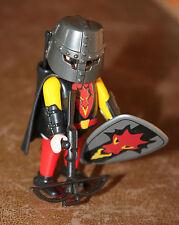 Playmobil personnage soldat chevalier arbalète bouclier dragon rouge ref gg