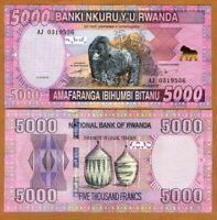 Rwanda 5000 (5,000) Francs, 2014 P-41 Unc