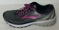 Brooks Ghost 10 Womens Running Shoes Size US 8.5 Pink Magenta Grey White EU40