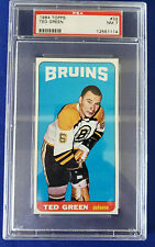 1964-65 Topps ' Tall Boys ' # 32, Ted Green. PSA Graded: 7 = NM!!