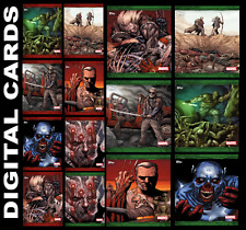 Topps Marvel Collect OLD MAN LOGAN COLLECTION [SET 14 CARDS COVERS RED/GREEN
