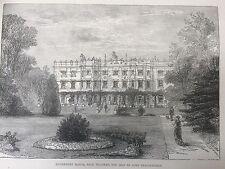 1877 Print of Hughenden Manor, High Wycombe in Buckinghamshire