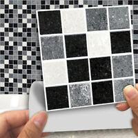 18Pcs Kitchen Tile Stickers Bathroom Mosaic Sticker Self-adhesive Wall Decors