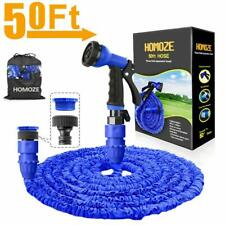 "HOMOZE Expandable Garden Hose Pipe 50FT Garden Hose with 3/4"", 1/2"" Fittings,"