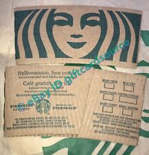 STARBUCKS CANADA SIREN MERMAID COFFEE SLEEVE COLLECTIBLE FRENCH NEW 2019