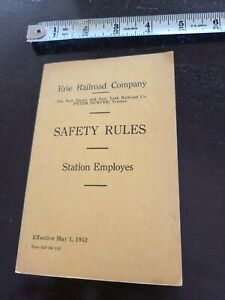 Erie Railroad Co Safety Rules 1952