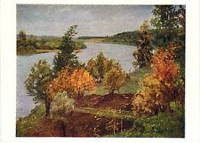 1962 Rare Soviet Russian postcard THE OKA RIVER NEAR POLENOVO by G.Ryazhsky
