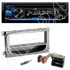 JVC CD USB Tuner blau FORD C-MAX Focus CC DA3  Radio Blende ISO Adapter+Antenne