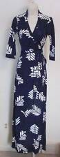 Diane von Furstenberg Abigail Arrow Feathers Purple maxi wrap dress 6 black DVF