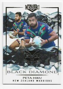 2021 NRL Elite Black Diamond MBD132 Peta Hiku New Zealand Warriors 04/05