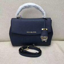 Authentic Michael Kors Ava Small Top Handle Satchel Handbag Navy Blue