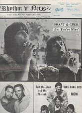 1965 Issue of Rhythm & News Paper with Sonny & Cher on Cover