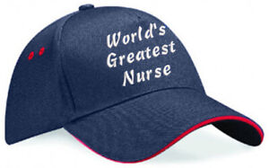 Embroidered World's Greatest......... Navy/Red Ultimate Baseball Cap, Ideal Gift