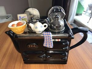 Teapot in Black by Swineside Yorkshire -Aga Breakfast Rolls & Porridge