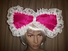 """Sissy Adult Baby 4 Piece Cerise Pearlescent """"SISSY"""" Collar Cuffs and Headband"""