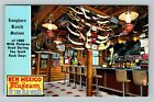 Albuquerque NM- New Mexico, Longhorn Ranch Saloon, NM Museum, Chrome Postcard