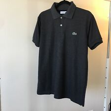 Lacoste Men's Polo Regular Fit. Size 6, Large Dark Gray. NEW. Free shipping!