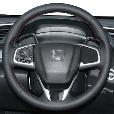 Authentic Leather Steering Wheel Cover for Honda Civic 2016 2017 CRV Anti Slip