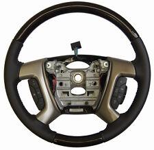 2013-16 Enclave Acadia Steering Wheel Black Leather W/Wood Complete New 22818078