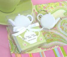 24 Teapot Tea Party Keychain Measuring Tape Bridal Shower Favors Q11401