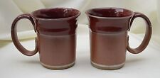 Made-in-the-USA Set of 2 Dishwasher-Safe Stoneware Mugs by Smoky Mtn Pottery