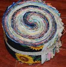 "Lot#B) 50-1.5"" MIXED colors, strips, jelly roll, quilt, cotton fabric-grab bag"