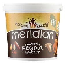 Meridian Lisse Beurre De Cacahuète 1kg 100% Noix + Sans Huile De Palme
